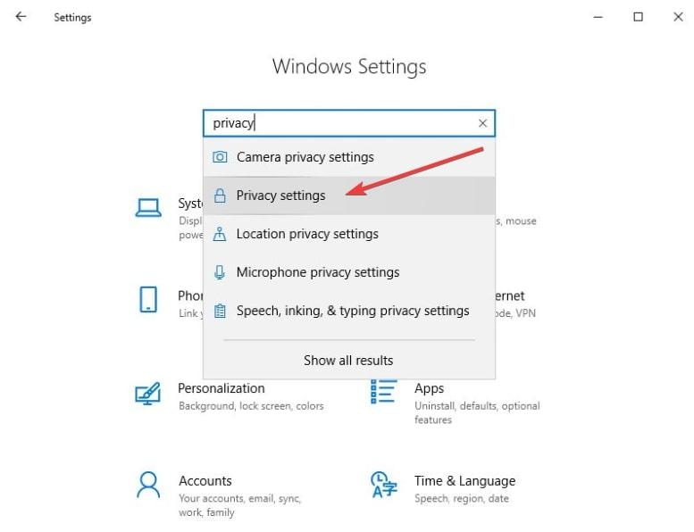Desactivar Microsoft Edge paso 3