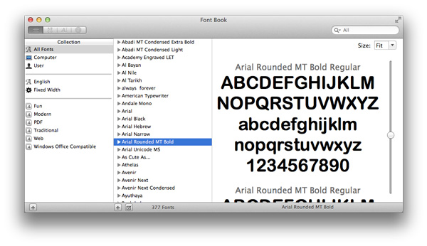 4 maneras de previsualizar fuentes en OS X