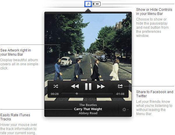6 aplicaciones útiles para controlar iTunes desde la barra de menús de Mac
