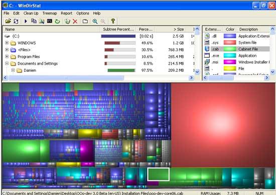 Administre el uso de su disco duro con WinDirStat