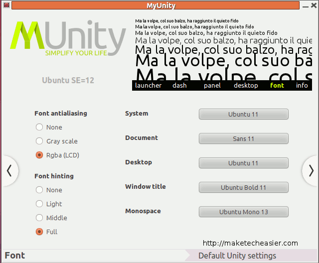 Ajuste su escritorio Ubuntu Unity Desktop con MyUnity