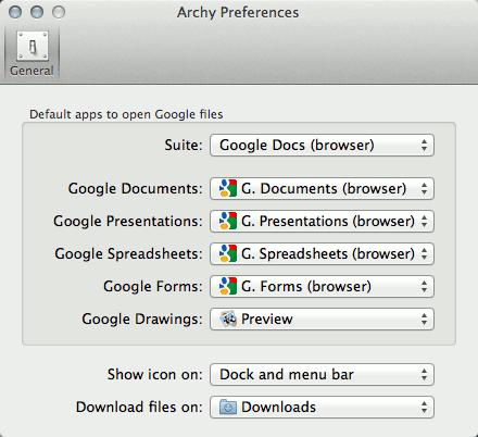Archy: La aplicación Google Drive App para Mac fácil de usar