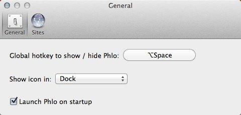 Busque cualquier sitio web desde el escritorio de su Mac con Phlo