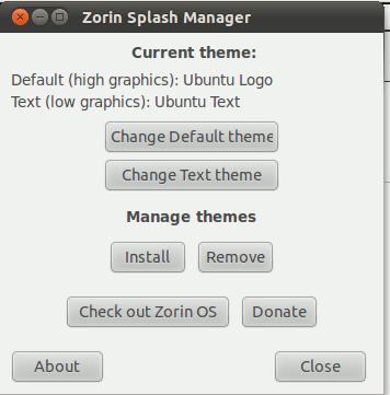 Cambiar fácilmente el tema de salpicadura sin ir a la línea de comandos[Ubuntu]