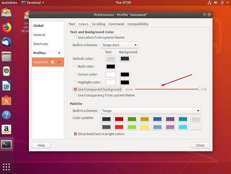 Cómo añadir un fondo de pantalla a una terminal Linux