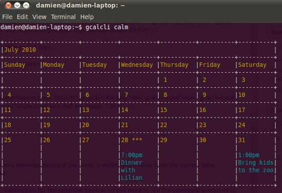 Cómo administrar Google Calendar desde la línea de comandos y mostrarlo en el escritorio
