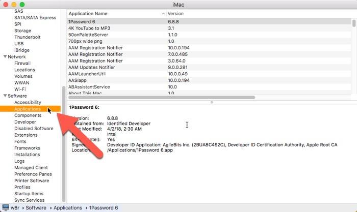 Cómo buscar aplicaciones de 32 bits en Mac