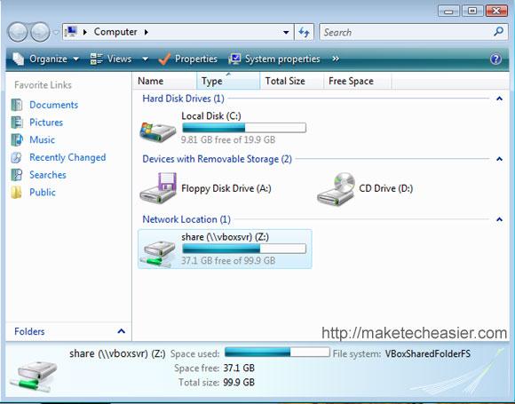 Cómo compartir archivos en VirtualBox con Vista Guest y Ubuntu Host