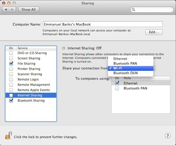 Cómo compartir la conexión a Internet de tu Mac