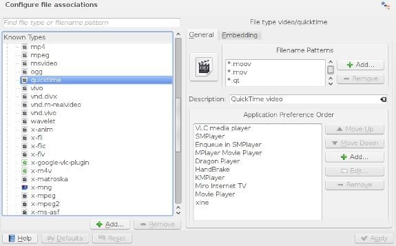 Cómo Configurar Asociaciones de Archivos en KDE