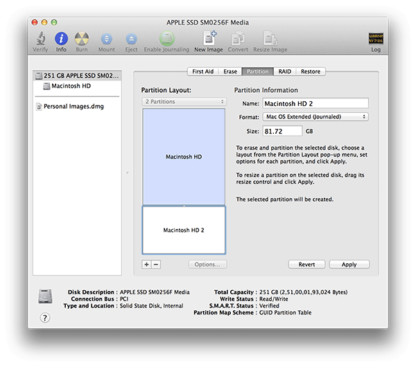 Cómo crear una partición en tu Mac