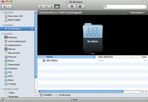 Cómo crear una unidad de red utilizando AirDisk en OS X