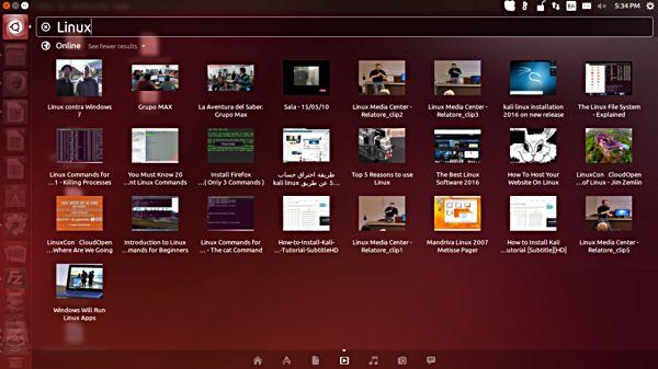 Cómo desactivar los resultados en línea de Unity Dash Search en Ubuntu
