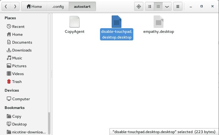 Cómo desactivar un Touchpad portátil en el inicio para Linux