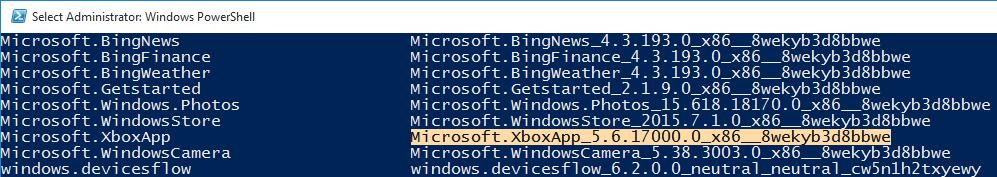 Cómo desinstalar aplicaciones preinstaladas en Windows 10 usando Powershell