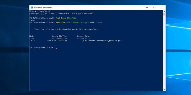 Cómo ejecutar comandos automáticos en el símbolo del sistema / Inicio de PowerShell