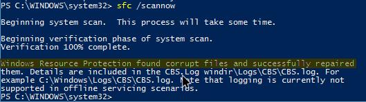 Cómo escanear y corregir archivos de Windows dañados