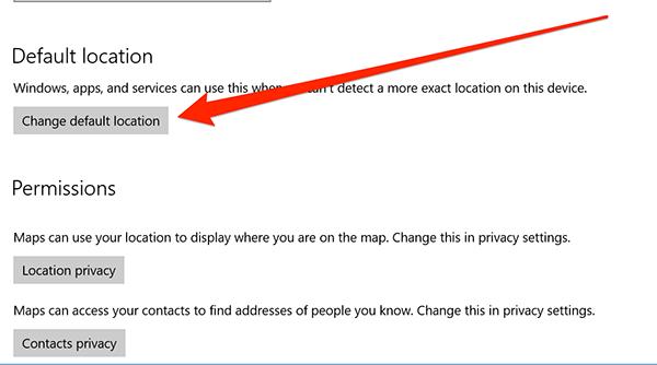 Cómo establecer la ubicación predeterminada para su equipo con Windows 10
