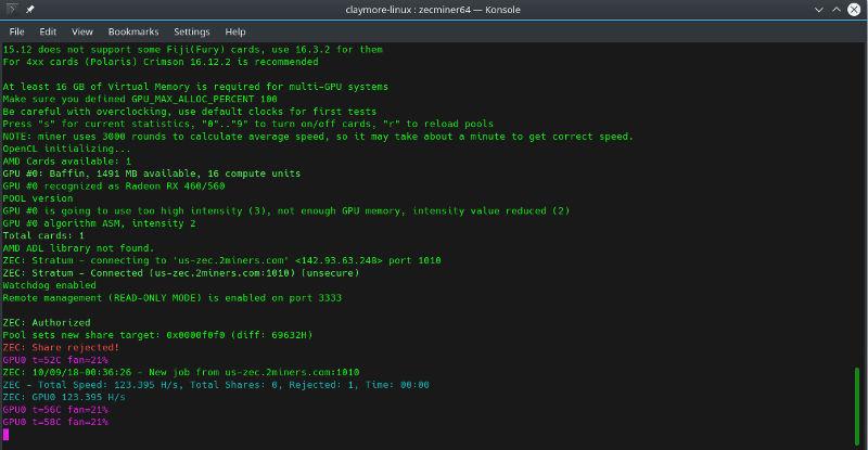 Cómo extraer ZCash en Linux