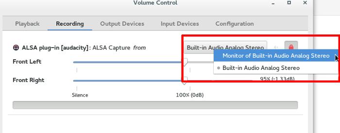 Cómo grabar el sonido del sistema con audio de pulso y audacia en Linux