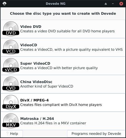 Cómo hacer imágenes de DVD grabables en Linux con DevedeNG