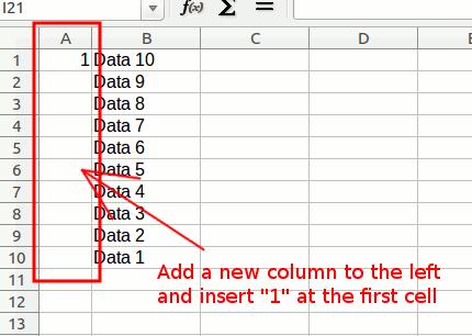 Cómo invertir el orden de filas en LibreOffice Calc[Consejos rápidos]