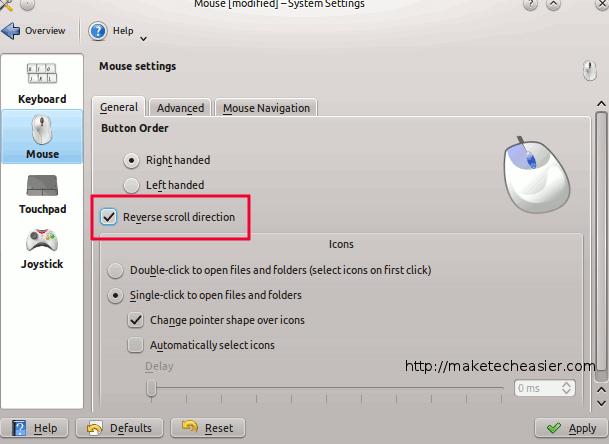 Cómo invertir la dirección de desplazamiento del ratón en Ubuntu (también conocido como desplazamiento natural)