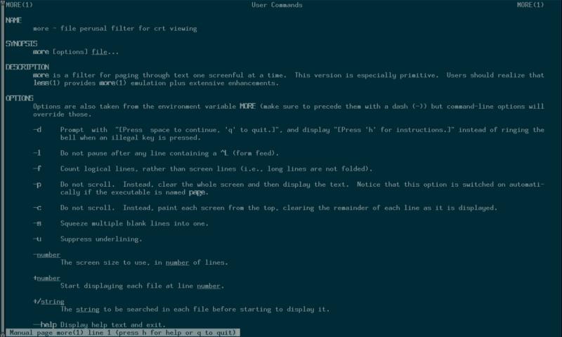 Cómo leer fácilmente una página de Linux Man Page