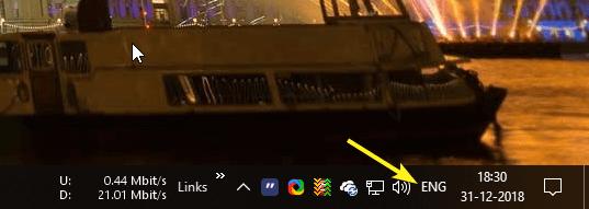 Cómo mostrar u ocultar el indicador de entrada y la barra de idioma en Windows 10