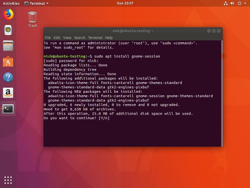 Cómo obtener la cáscara de vainilla de GNOME en Ubuntu
