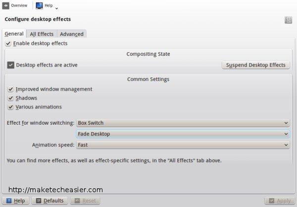 Cómo optimizar los efectos de escritorio KDE