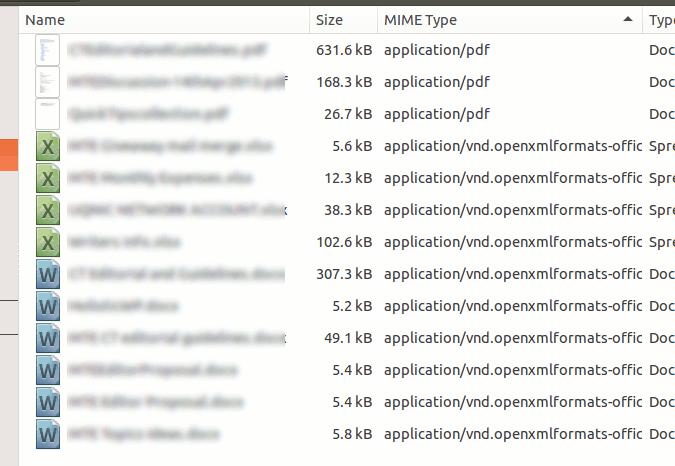 Cómo ordenar archivos por extensión en Ubuntu Nautilus