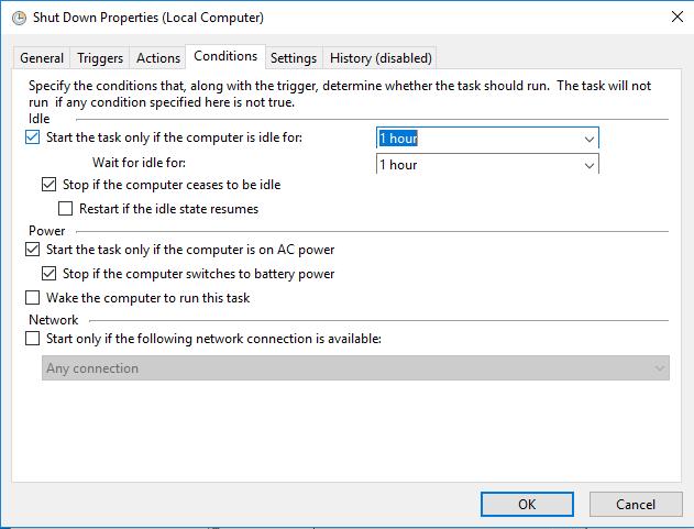 Cómo programar el apagado y el inicio de Windows 10