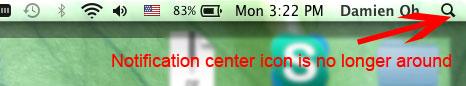 Cómo quitar el Centro de notificación en Mac