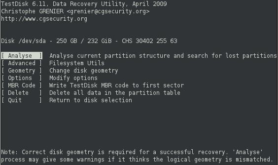 Cómo recuperar datos y particiones gratuitamente con TestDisk