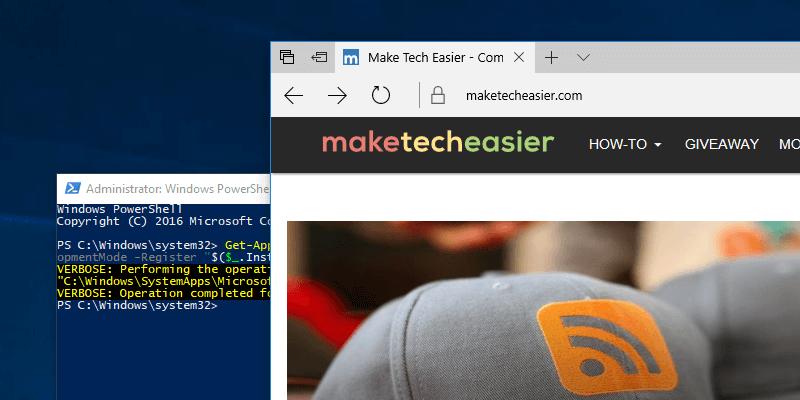 Cómo restablecer el explorador Edge en Windows 10