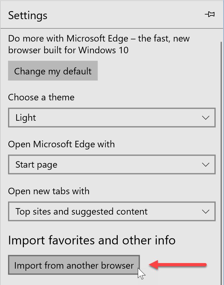 Cómo restaurar los favoritos de Edge después de reiniciar Windows 10