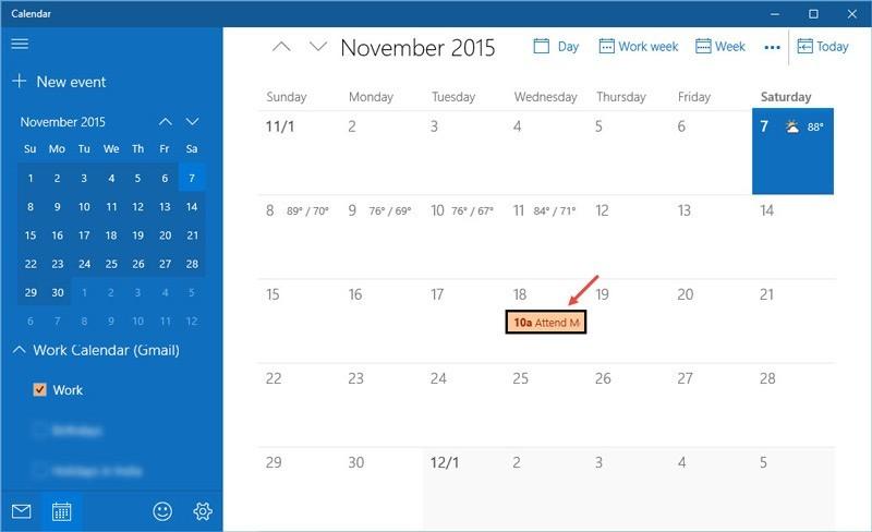 Cómo sincronizar Google Calendar con Calendar App en Windows 10