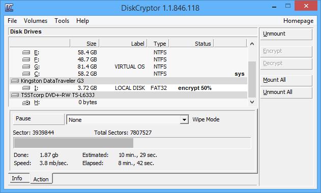 Cómo usar DiskCryptor para cifrar particiones en Windows