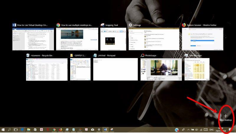 Cómo usar el Escritorio Virtual en Windows 10