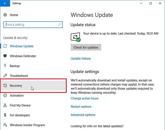 Cómo volver a las versiones anteriores de Windows 10