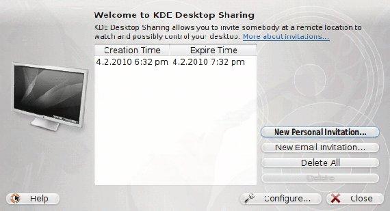 Compartir escritorios remotos con KRDC