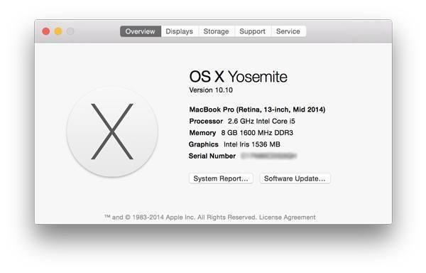 Compruebe la versión de su Mac en OS X