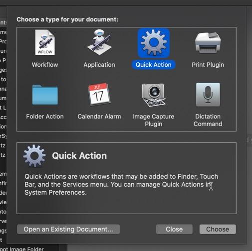 Creación y uso de acciones rápidas en macOS Mojave