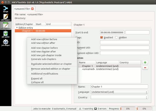 Crear y editar archivos de vídeo de Matroska en Linux con MKVToolNix