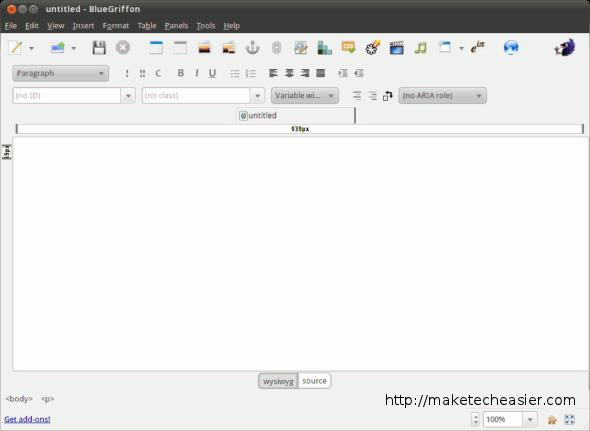 Crear y editar páginas web en el escritorio Linux con BlueGriffon