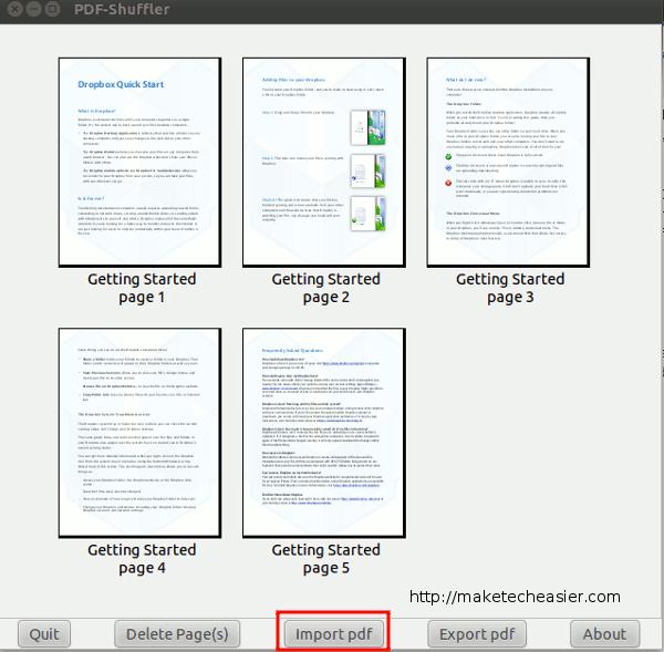 Dividir y combinar archivos PDF con PDF-Shuffler[Linux]