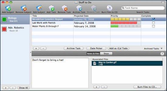 Dos útiles herramientas Mac para ayudar a los estudiantes a realizar el seguimiento de sus tareas