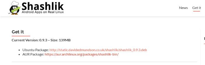 Ejecutar aplicaciones Android en Linux con Shashlik