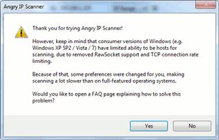 Escanee sus puertos y su dirección IP con un escáner IP enojado